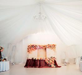 Организация свадьбы в усадьбе Валуево: шатер