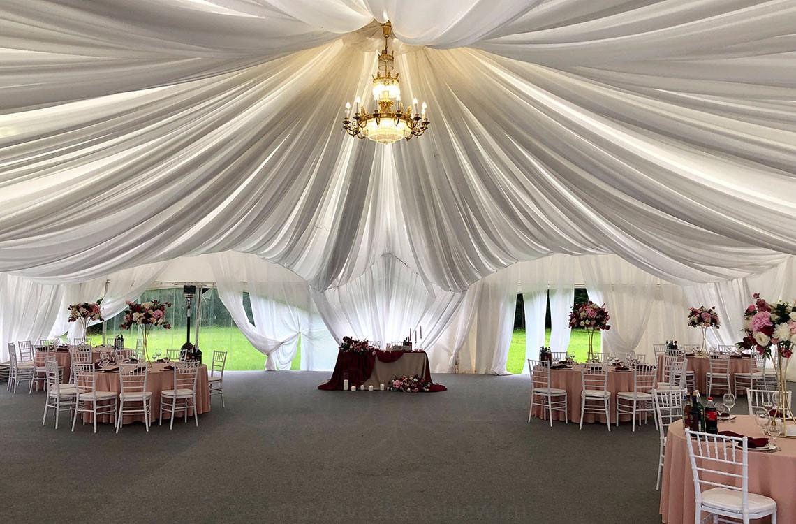 Свадьба в шатре Дворцовый в усадьбе Валуево