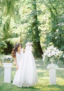 Фотосессия утро невесты на природе