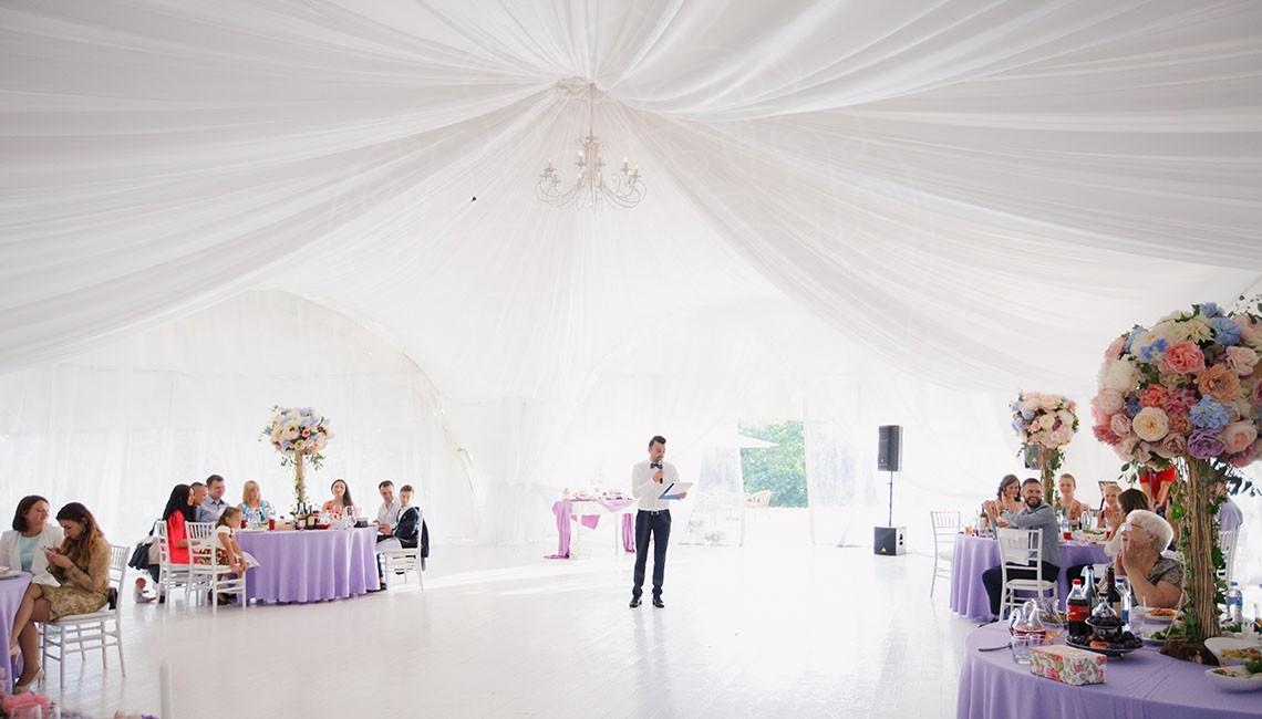 Шатер на природе для свадбы