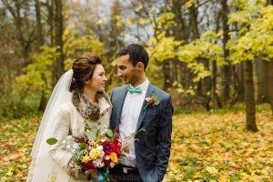Свадьба в усадьбе Валуево золотая осень
