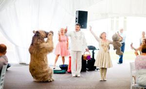 Медведь на свадьбе в шатре у Дворца