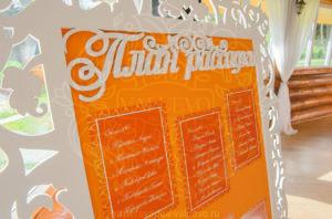 Апелсиновая свадьба план рассадки