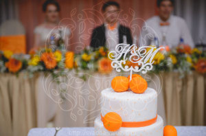 Свадебный торт для апельсиновой свадьбы