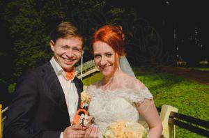 Оранжевый свадебный замок