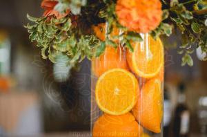 Свадьба апельсиновый рай декор