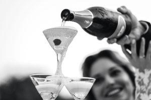 Горка шампанского фото