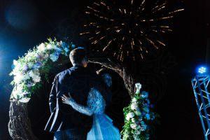 Свадебный салют в усадьбе Валуево