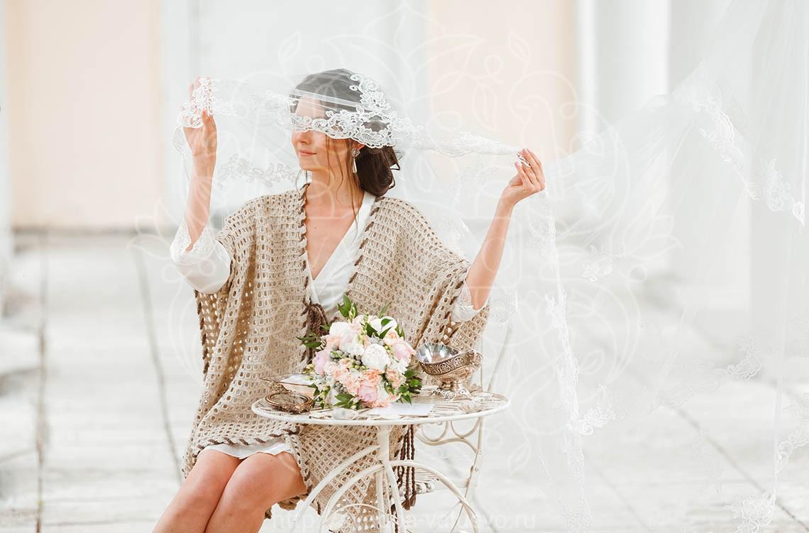 Декор для утра невесты на природе в усадьбе